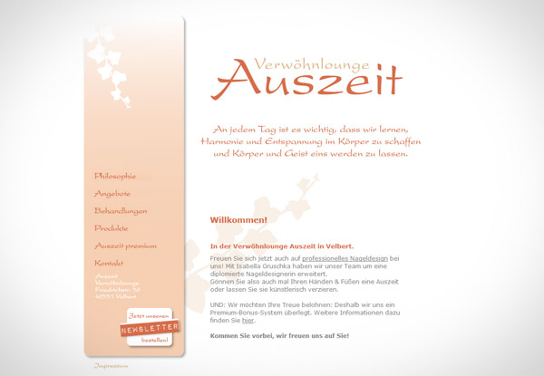 Auszeit Website